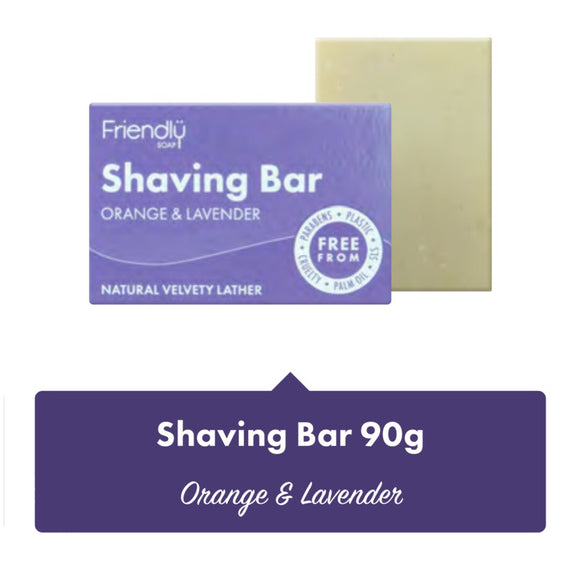 Friendly Soap Shaving Bar Orange & Lavender - SW Coast Refills