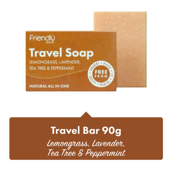 Friendly Soap Travel Soap Bar - 95g - SW Coast Refills