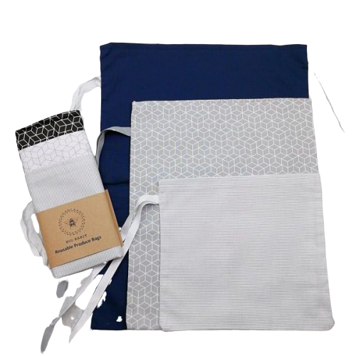 Reusable Produce Bags - Set of 3 - SW Coast Refills
