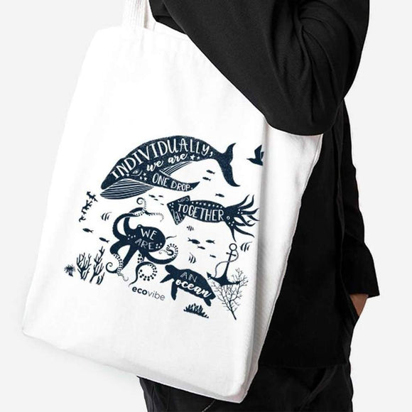 Eco Cotton Tote Shopping Bag - SW Coast Refills