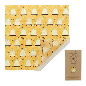 XL Beeswax Bread Wrap in Beehive Print - SW Coast Refills