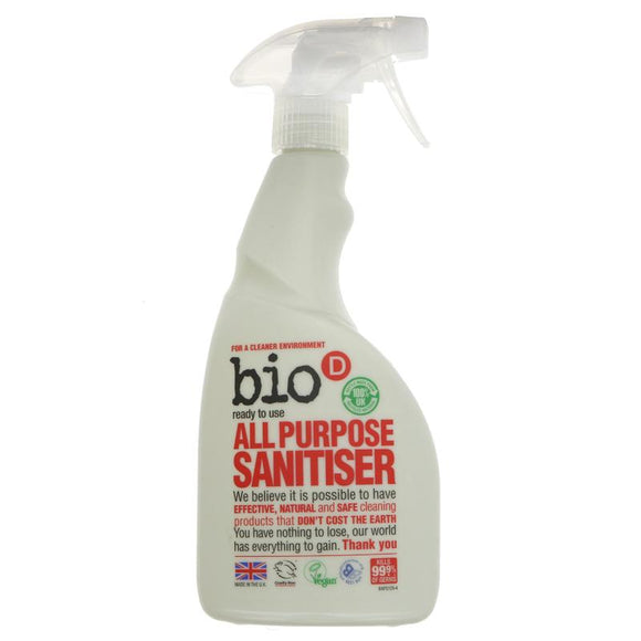 Bio D All Purpose Sanitiser Spray - 500ml - SW Coast Refills
