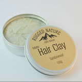 Natural Vegan Hair Clay - Sandalwood - SW Coast Refills