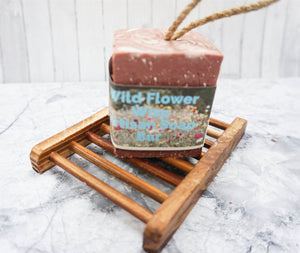 Wildflower Wisp Artisan Soap Bar - Soap on a Rope - The Natural Spa | SW Coast Refills