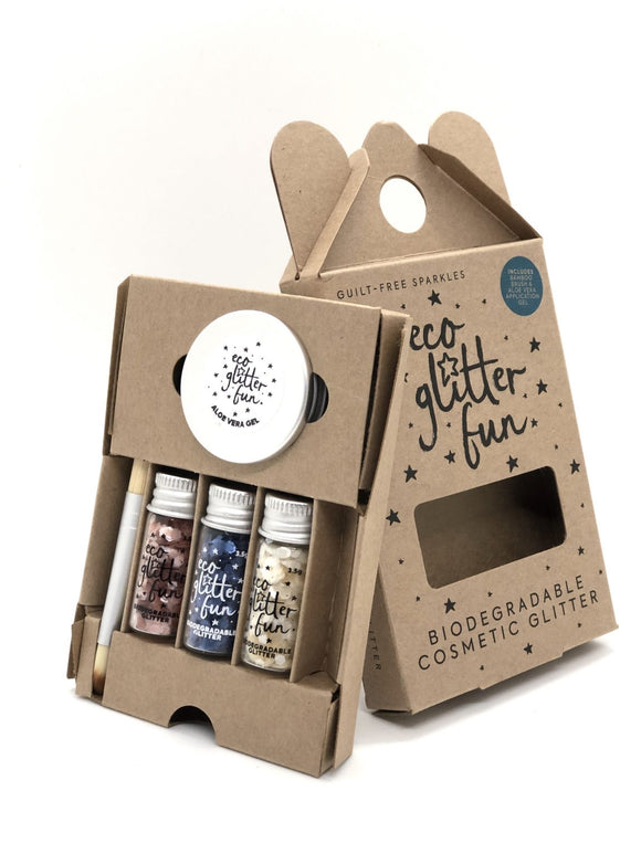 Eco Glitter Fun Cosmetic Hlitter Trio Gift Pack Kit - Pastel Chunky | SW Coast Refills