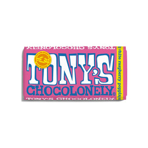 Tony's Chocolonely White Chocolate with Raspberry & Popping Candy Bar - 180g | Snacks & Chocolate | SW Coast Refills