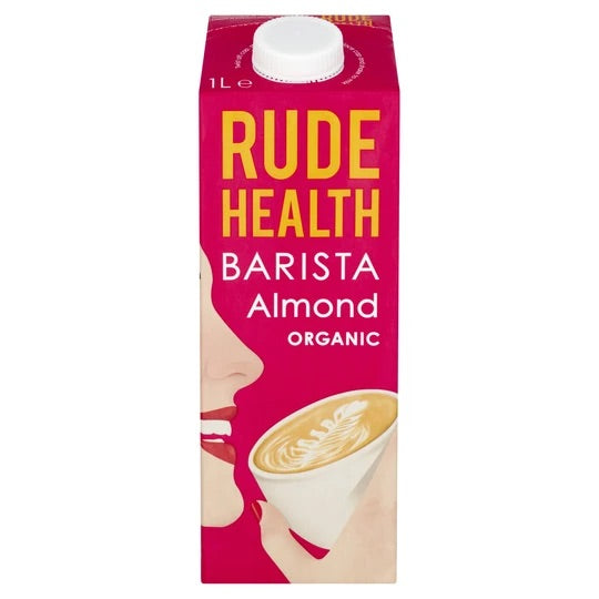 Rude Health Barista Almond Drink | Plant Based Milks | Vegan Store Cupboard | SW Coast Refills