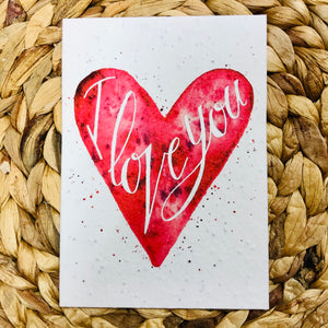 I Love You  Greeting Card - plantable seeded cards for all occasions | Birthday Cards SW Coast Refills