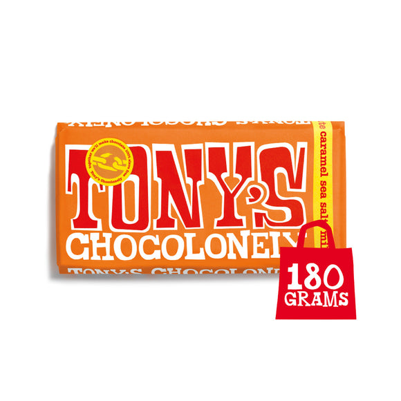 Tony's Chocolonely Milk Caramel Sea Salt Chocolate | Snacks & Chocolate - Ethical and Fair Trade Chocolate at SW Coast Refills
