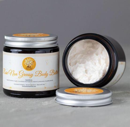 Luxurious Rose Water Butter for Dry Hands - Rose Non Greasy Body Butter - Sintra Naturals | Hand and Body Butters | SW Coast Refills