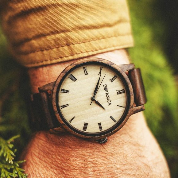 Cedar | Wood Watch | Sandalwood & Maple | Woodlink Strap