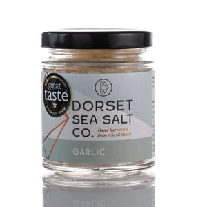 GARLIC INFUSED DORSET SEA SALT 125G | SW Coast Refills