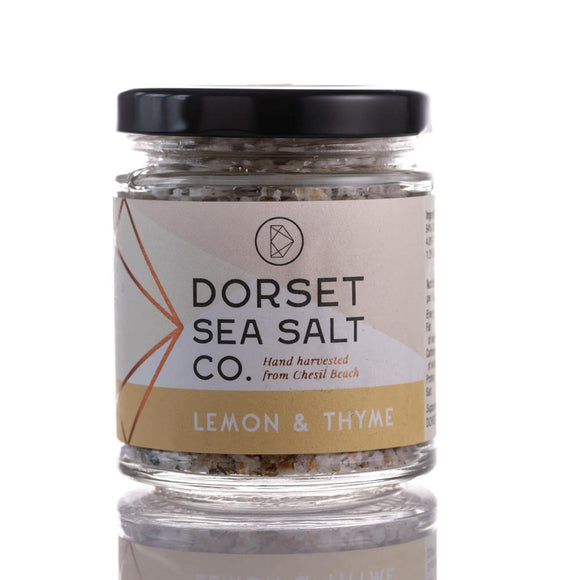 LEMON & THYME INFUSED DORSET SEA SALT 125G | SW Coast Refills