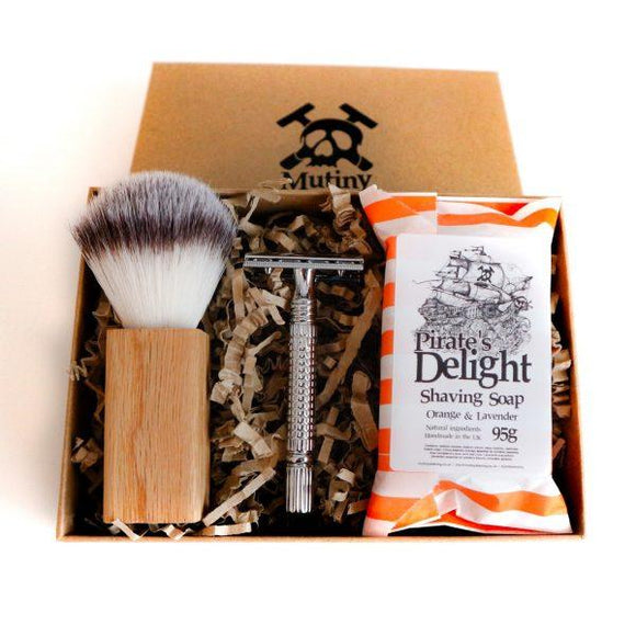 Mutiny Safety Razor Shaving Set - Orange & Lavender - SW Coast Refills