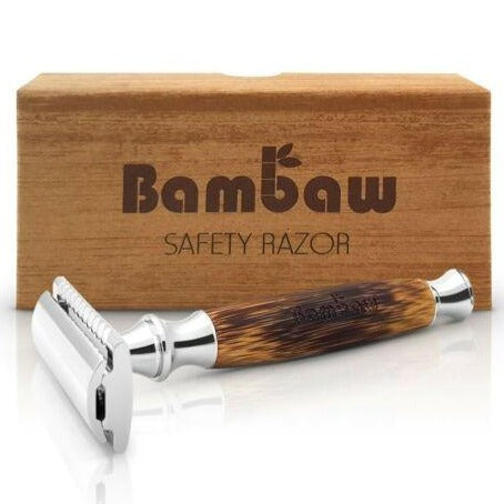 Double Edge Safety Razor with Long Bamboo Handle - SW Coast Refills