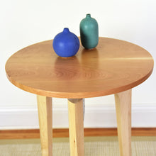 Load image into Gallery viewer, Round Side Table with Cherry Top