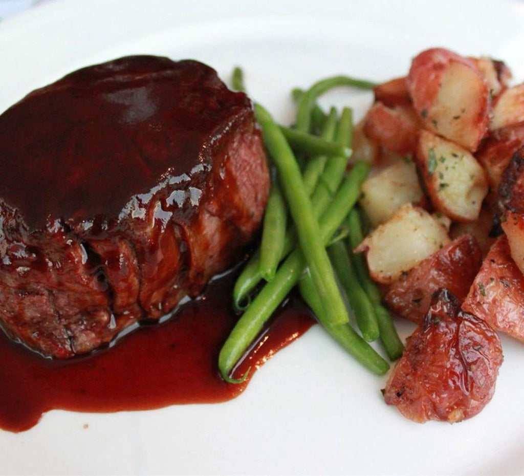 Filet Mignon with Rich Balsamic Glaze - Easy & Romantic