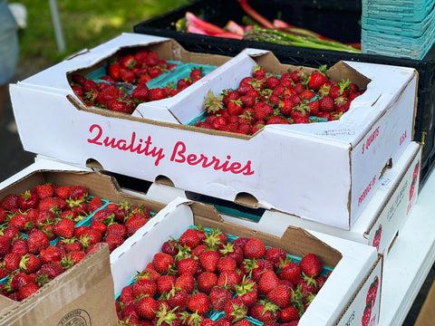 A box of red, juicy, 'Quality berries'