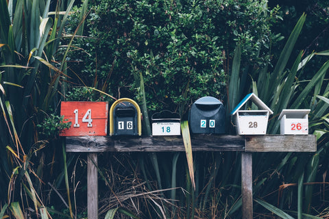 A row of mailboxes (perfect for D2C!)