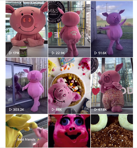 Percy Pigs TikTok - featuring lots of people dressed as Percy the Pig