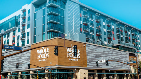 An image of a Whole Foods Market store, taken from street level