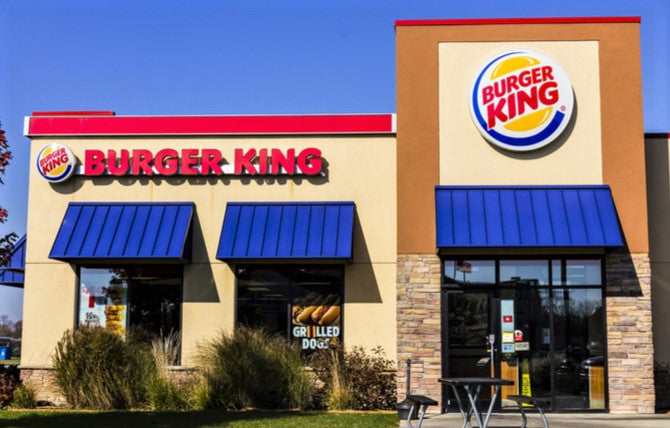photo of Burger King exterior on sunny day