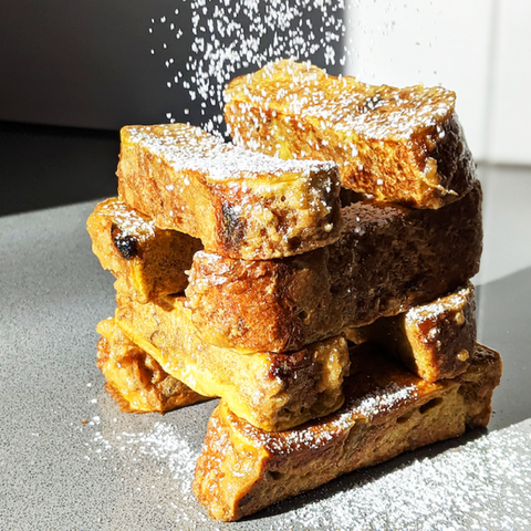 A streusel french toast from Raisins Breakfast Bread
