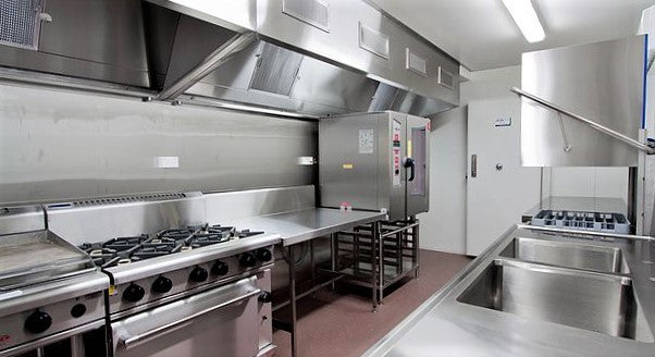 shiny high quality ghost kitchen for commercial lease