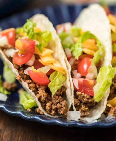 slow cooked homemade taco meat