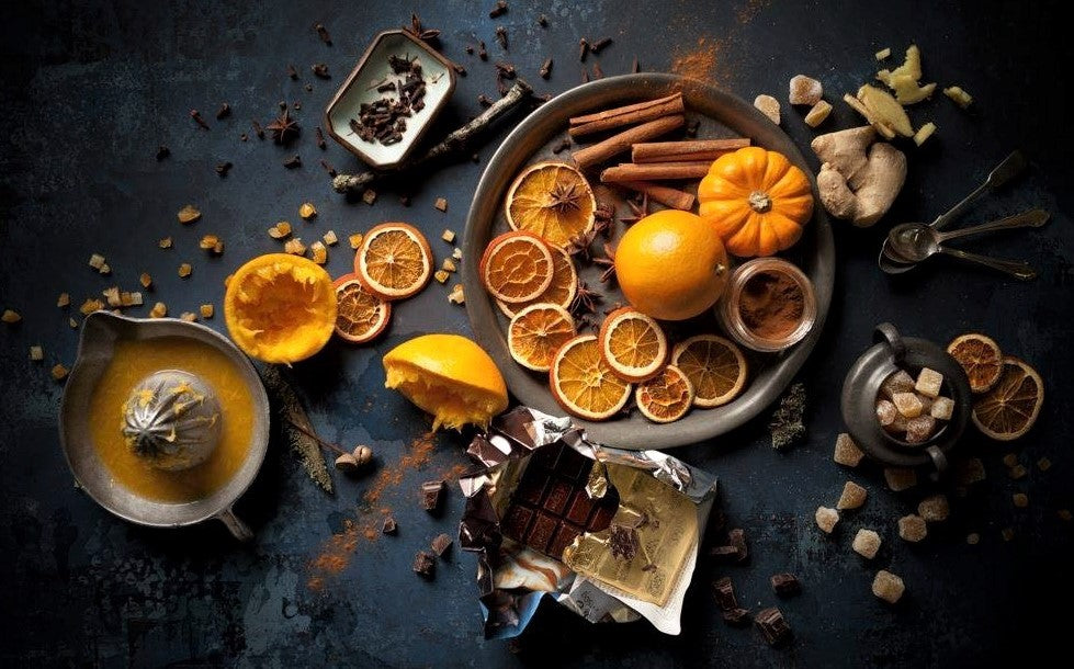 striking food photography of orange and spices