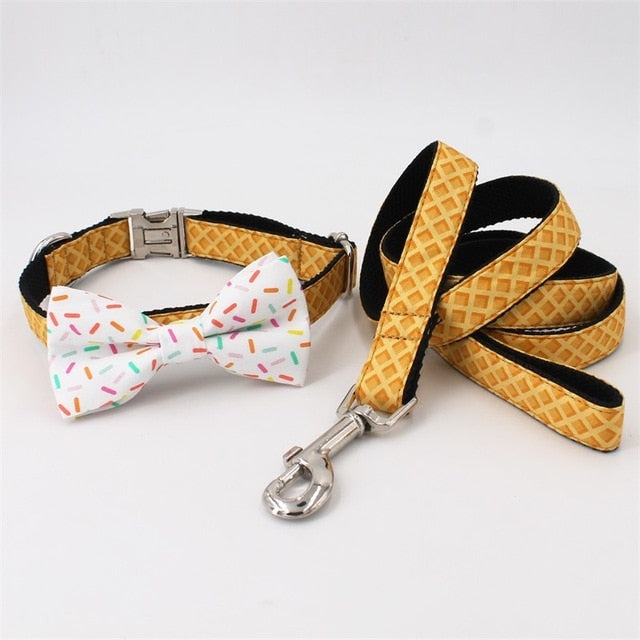 Dog Collars With Sprinkles Bow