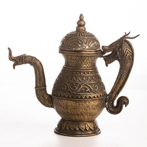 TEAPOT ORNATE DRAGON BLACK