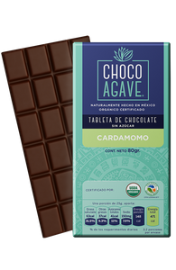 TABLETA DE CHOCOLATE CON CARDAMOMO 80gr