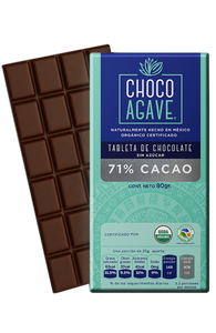 TABLETA DE CHOCOLATE 71% CACAO 80gr