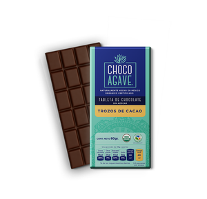 TABLETA DE CHOCOLATE CON TROZOS DE CACAO