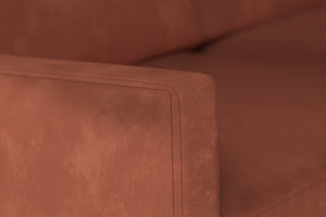 Swyft | Model 01 Velvet 2 Seater Sofa | Brick