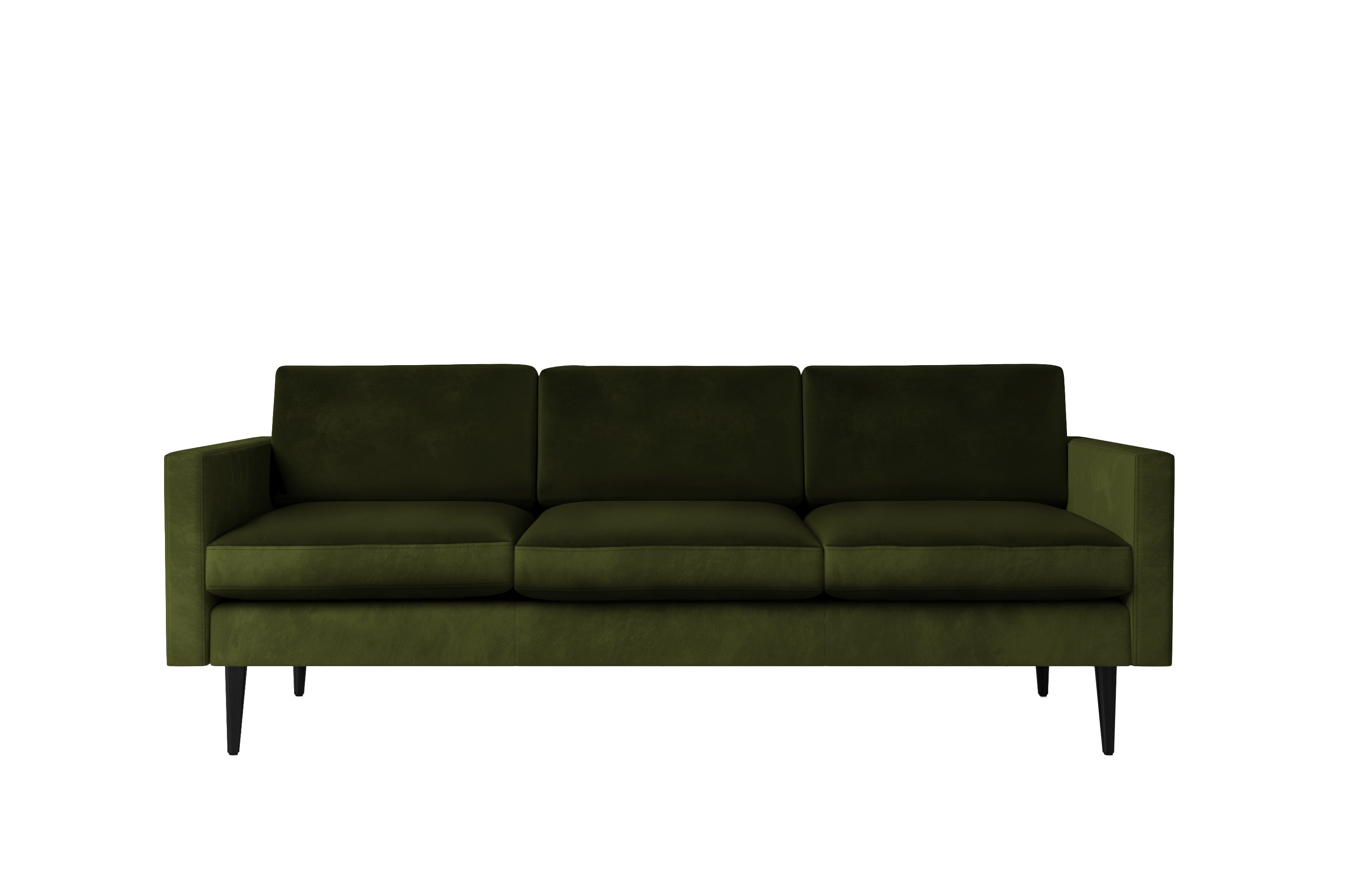 Swyft | Model 01 Velvet 3 Seater Sofa | Vine