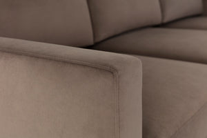 Swyft | Model 01 Velvet 3 Seater Sofa | Elephant