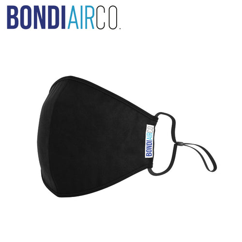 Essential Black Anti Air Pollution Mask & 2 Filters Set