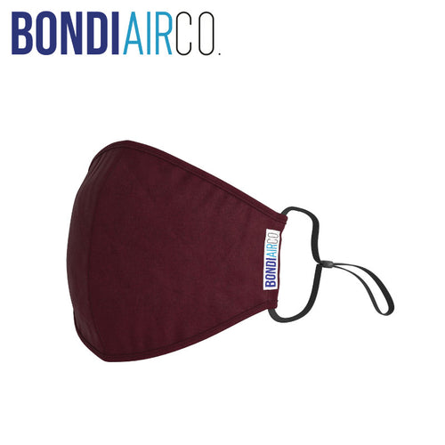 Essential Maroon Anti Air Pollution Mask & 2 Filters Set
