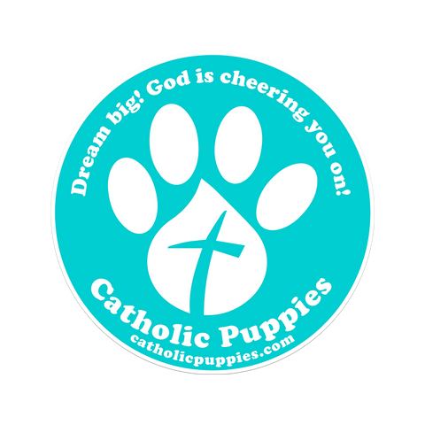 Catholic Puppies Vinyl Sticker