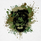 Lion Camo Splat Unisex T-Shirt