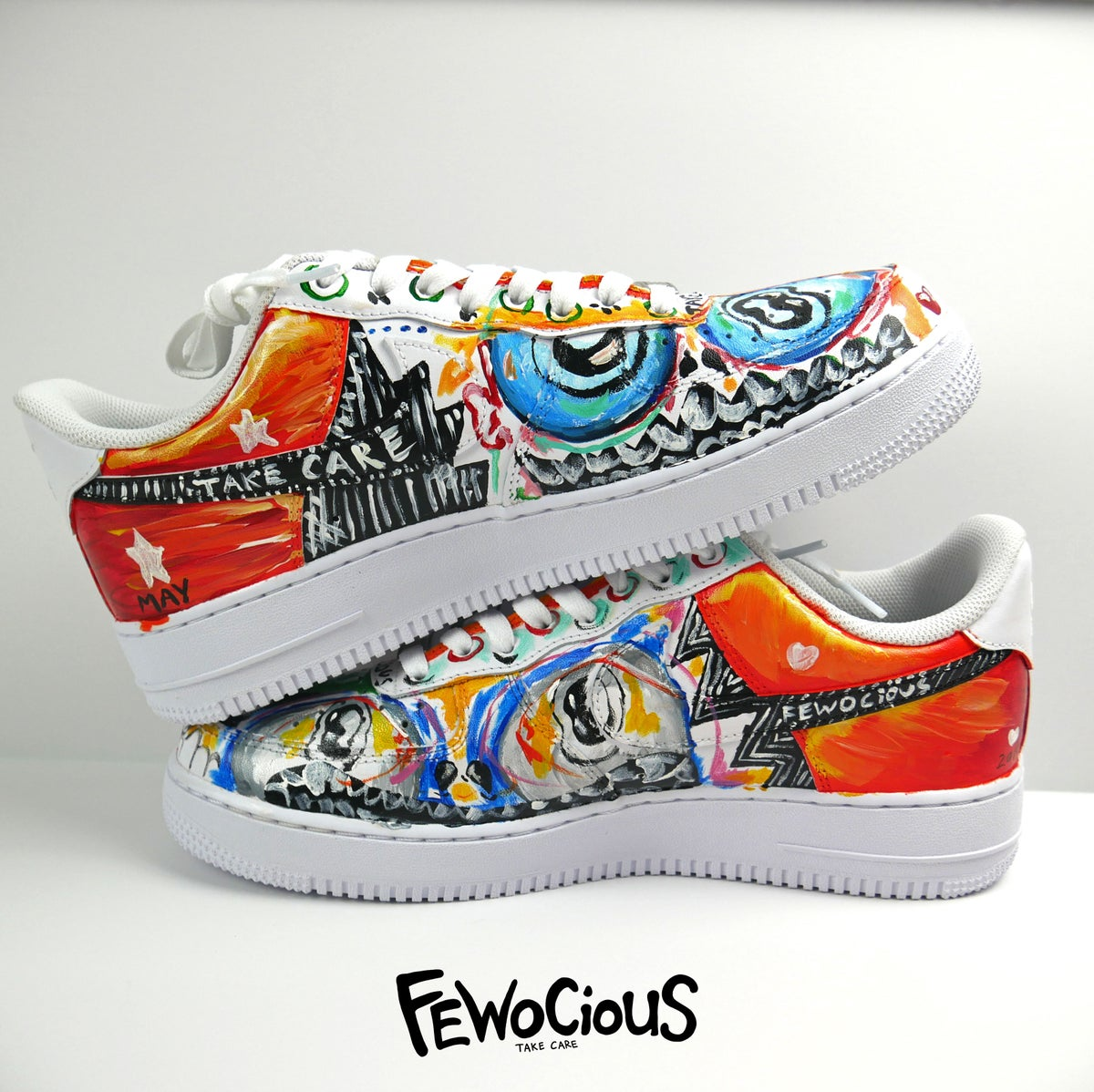 FIRST EVER FEWOCiOUS CUSTOM PAINTED SHOE