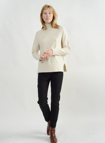 Basic Mock Neck Sweater - Ivory
