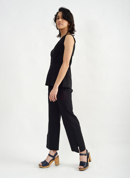 Big Slit Top - Black