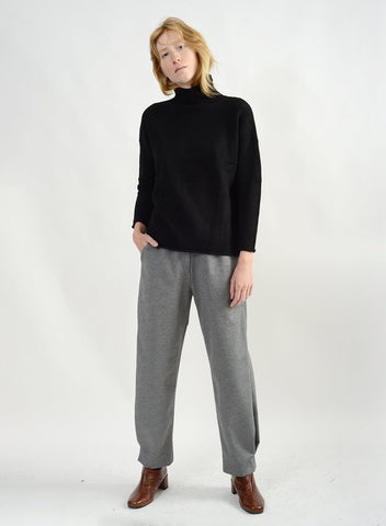 Cozy Mock Neck Sweater - Black