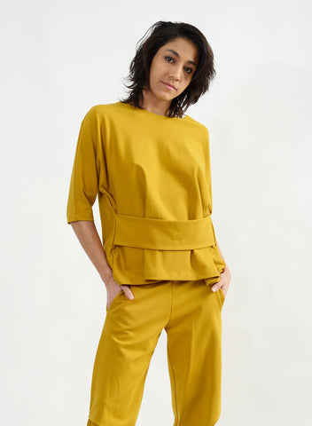 Dolman Sleeve Band Top - Amber