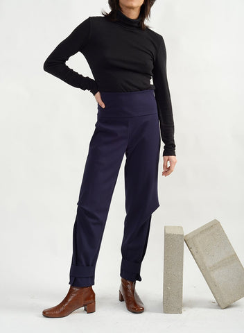 Dip Pant With Band - Navy