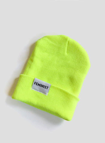 Feminist Hat - Neon Yellow