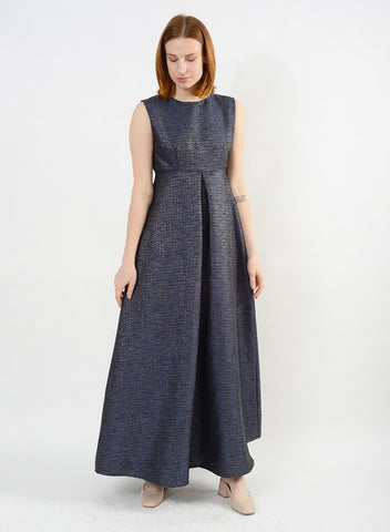 Baroque Dress - Navy